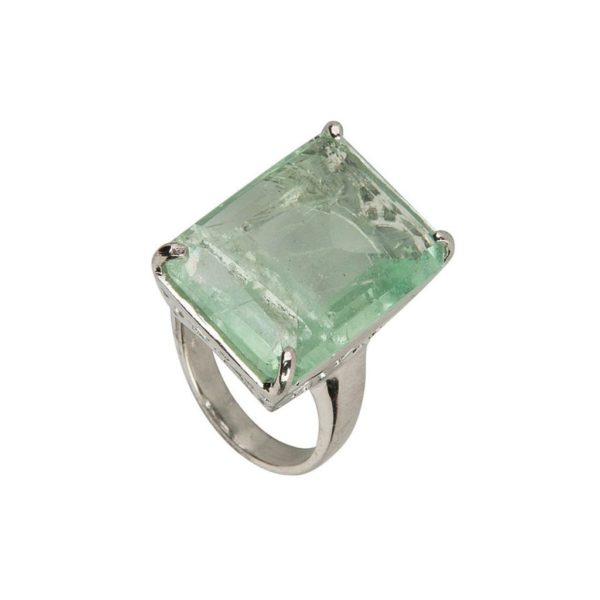 "ANILLO ""MARRAKECH"" CON PIEDRA NATURAL FLUORITA"