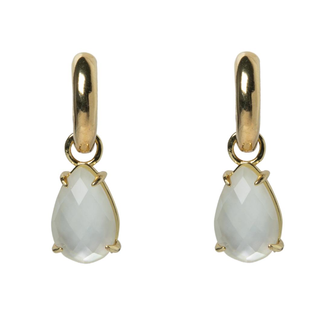 Gotas mini Madre perla y aros